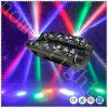 A luz principal movente DJ da aranha do diodo emissor de luz ilumina luz principal movente do diodo emissor de luz do feixe de 8pcsx12W RGBW 8