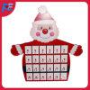 Calendario del advenimiento con el diseño de Papá Noel para el regalo y la decoración de la Navidad