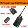 Micro Wireless Audio Transmitter Audio Bug met Voice Recording Taking Audio Function, tot 300-500meters (cw-04)