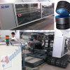 Plastik-HDPE doppel-wandige gewölbte Rohr-Strangpresßling-Maschine (DWCP-500)