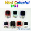 QWERTY duel de la mini du glisseur H01 de téléphone portable de Java bande colorée SIM de quadruple débloqué