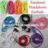 fone de ouvido colorido de Earbuds do fone de ouvido do auscultadores dos auriculares da em-Orelha de 3.5mm com o Mic para o iPhone 4 4s 3GS