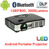Neuester Android DLP-Projektor WiFi Beamer LED beweglicher Projektor 3000lumens für Geschäft, Haus, bewegliche Größe (MOV298A)