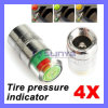 4PCS Car Auto Tire Pressure Monitor Valve Stem Caps Sensor Indicator Eye Alert (CAR-429)