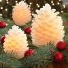 Velas sin llama del día de fiesta decorativo de Pinecone, velas del LED