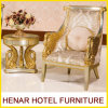 Re bianco d'argento Throne Chair dell'oro