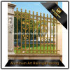 Frontière de sécurité enduite de fonte d'aluminium en métal de jardin de couleur de décoration de jardin