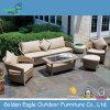 Rattan del PE con il sofà sezionale del blocco per grafici di alluminio per uso esterno, fornire del patio