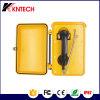 Téléphone Emergency extérieur direct Knsp-03 de combiné téléphonique de téléphone de cadran de cordon d'armure