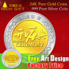 Custom Metal 24k Pure Gold Mois Souvenir /. 999 monnaie d'argent pur / Antique / Gold et Silver Color Challenge Coins / Copy Coin Factory / Fabricant en Chine