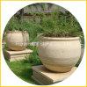 Bac rond en pierre de jardin de granit pour des fleurs et des plantes