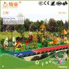 Parque de Amusemnt/série de madeira pré-escolar do equipamento ao ar livre do campo de jogos do vaqueiro