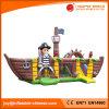 Nuevo castillo animoso inflable de la nave de pirata 2017 con la diapositiva (T6-614)