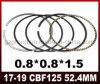 Piezas de la motocicleta de la alta calidad del aro del pistón de Cbf