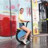Uma motocicleta de equilíbrio elétrica da roda