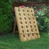 Vintage French Wood Rack Industrial Style Garrafa Garrafa Garrafas De Vinho