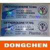 Etiqueta colorida do tubo de ensaio da impressão farmacêutica feita sob encomenda do efeito do laser da folha de ouro