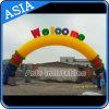 Arco stampato gonfiabile di pubblicità variopinto Archdoor dell'aria del Rainbow esterno