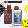 Сотовый телефон аргументы за Кореи Wall Climbing Stereoscopic 3D Bear Rabbit Silicon