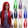 Qualitäts-Form-geneigter Knall-lange gerades Haar-Chemiefasergewebe-Perücken