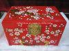 Contenitore di monili dipinto a mano del regalo della lacca del fiore della prugna di Chinoiserie