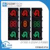 디지털 2개의 3 색깔 Counterdown 타이머 빨간 황록색으로 u 턴 교통 신호 빛의 둘레에 도십시오