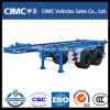 20FT ContainerのためのFuwa Axle 2 Axle Skeletal Trailer