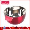 Roestvrij staal dat Geplaatste Kom mengt met het Handvat van het Silicone en Rode Kleur