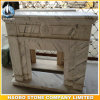 White Marble Fireplace Surround with Carved Flowers