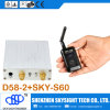 transmissor sem fio video Sky-N500 de 500MW 32CH Fpv com o transmissor do receptor de diversidade D58-2 e o receptor GPS