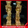 Marble natural Sculpture romano Column para Construction