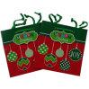 Sacos do presente da promoção do papel do cartão de Natal da impressão da qualidade