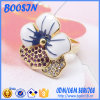 Enamel su ordinazione 925 Sterling Silver Flower Shape Ring per Girls