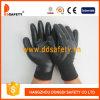 Нитрила формы нейлона 3/4 Ddsafety 2017 перчатка черного черного Coated