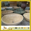 BathroomのためのCrema Marfil/Cream Marfil Marble Art Basin