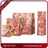 Le cadeau floral de cru foncé met en sac les sacs en papier de achat de jeux