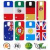 Изготовленный на заказ галактика S5 Samsung аргументы за задней стороны обложки PC национального флага печатание