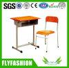 Única mesa e cadeira de madeira do estudante da mobília de escola ajustadas (SF-09S)