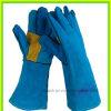 Залатанное Palm Cow Split Leather Glove для горнодобывающей промышленности