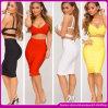 2014 самое последнее горячее двухкусочное платье повязки повязки Dress/Rainbow знаменитости