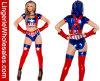 섹시한 여자의 미국 슈퍼 영웅 Cosplay 복장