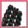 Волосы девственницы естественного цвета бразильские сотка глубокую волну 12inches