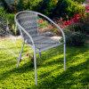 灰色の藤のガーデン・チェアの余暇の家具のビストロセット