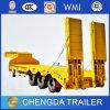 3 assen 60 Ton van de Aanhangwagen van Lowbed met Hydraulische Helling