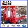 2016年の中国の製造業者3の車軸トレーラー60トンのLowboyの
