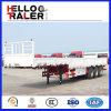 Rimorchio a base piatta del camion della parete laterale dell'asse caldo di vendita 3 della Cina semi