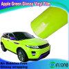 De nieuwe Verse Lichtende Appelgroene Glanzende Film van de Film van de Omslag van de Auto Glanzende Vinyl