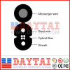 1, 2, 4 Core FTTH Drop Cable Steel Wire Messenger