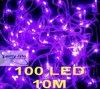 As luzes feericamente da corda roxa do diodo emissor de luz 10m 100 para o banquete de casamento decoram