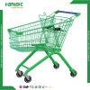 Caddie vert élégant d'épicerie de supermarché